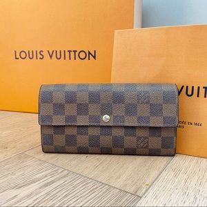 ♥️SARAH WALLET♥️Authentic Damier Ebene Long Wallet